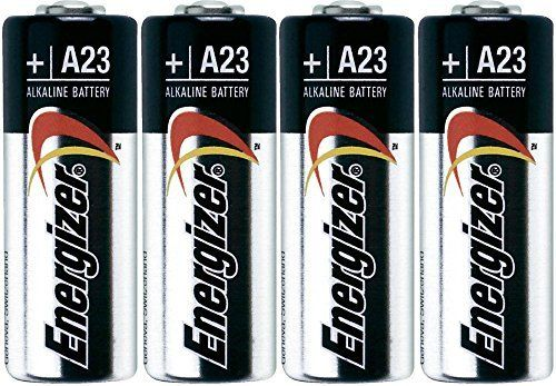 """Energizer A23pk12 A23 Battery, 12V, 1.8"""" Height, .5"""" Wide, 2.9"""" Length (Pack of 12) - Energizer A23 battery, 12 Volt, package of four (12) batteries. These batteries are good for all electronics, remotes, etc. Equivalent to: 21/23 23a 23ga MN21 12V battery gp23ae."""