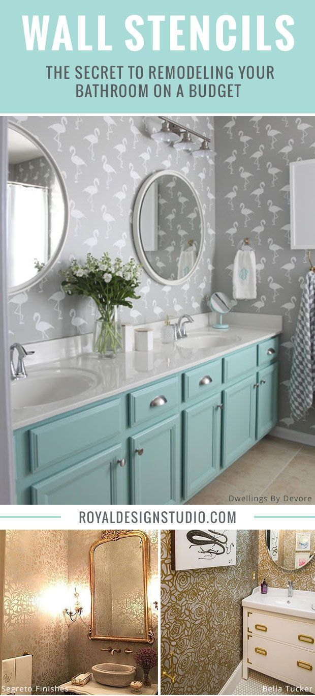 199 best modern wall stencils images on pinterest wall mural wall stencils the secret to remodeling your bathroom on a budget amipublicfo Images