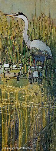 Jean-Pierre Guay, 'Des ruisseaux', 8'' x 21,5'' | Galerie d'art - Au P'tit Bonheur - Art Gallery