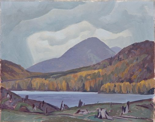 """""""Madawaska Country,"""" Alfred Joseph Casson, oil on panel 12 x 15"""", private collection."""