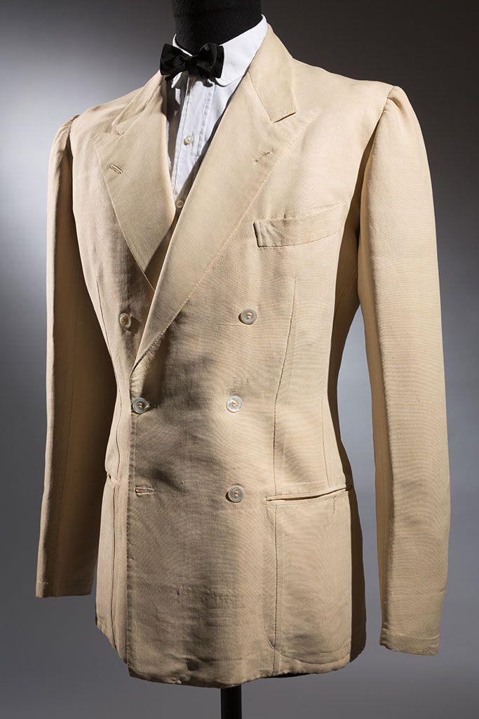 London House tussah silk classic Neapolitan jacket, 1930s, Naples,