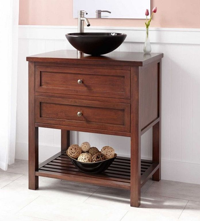 Bambus Waschtisch Unterschrank 60 Cm Unterschrank Waschtisch Tisch