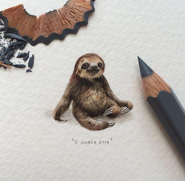 No necesitas una lupa para impresionarte con estos dibujos en miniaturas