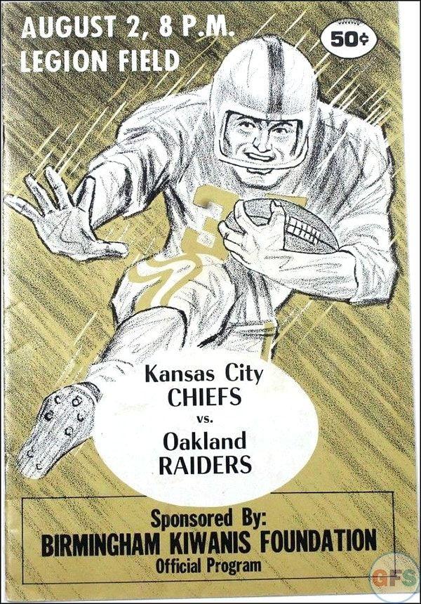 AFL Game Program: Kansas City Chiefs vs. Oakland Raiders (August 2, 1969)