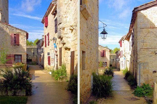 Encerclé de vignes destinées à la production d'Armagnac, Larressingle affiche des ruelles étroites flanquées de maisons de pierre dorée.