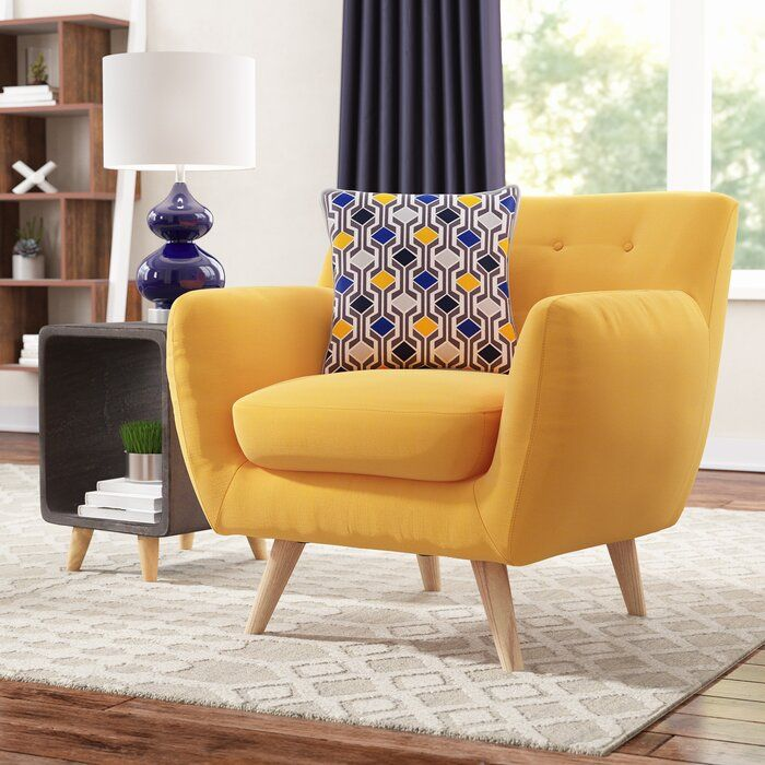 Wrought Studio Faucett Armchair Reviews Wayfair In 2020 Furniture Yellow Accent Chairs Interior Design