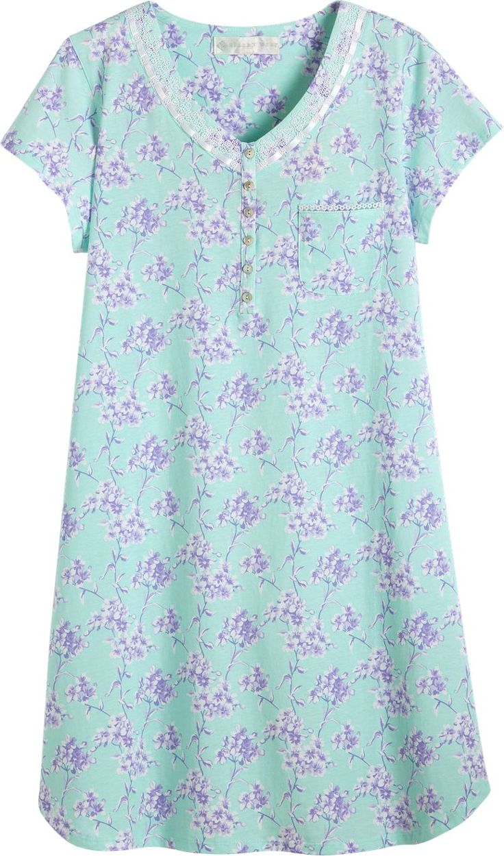 Eileen West Sweet Dreams Nightgown: This sumptuously soft nightgown from Eileen West fits like a dream with its capped sleeves and easy-to-wear knee-length, which offers modest coverage while keeping you cool through the warmest of nights.