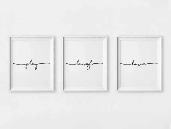 Kids Room Decor Laugh Printable Nursery Wall Art von printabold