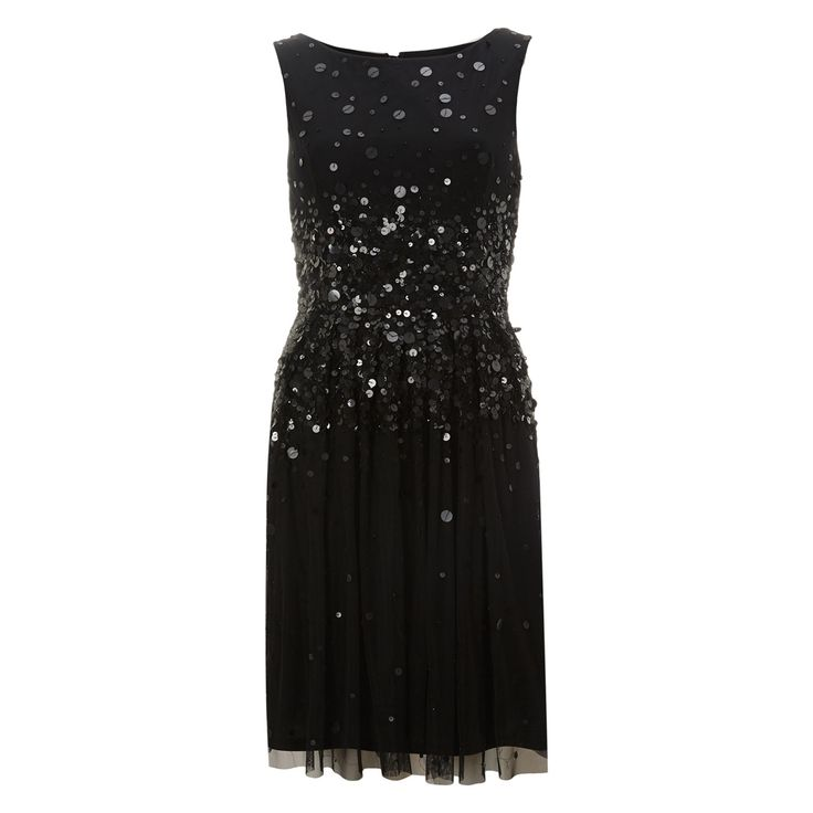 Young couture black sequinned skater dress tk maxx for Tk maxx dresses for weddings