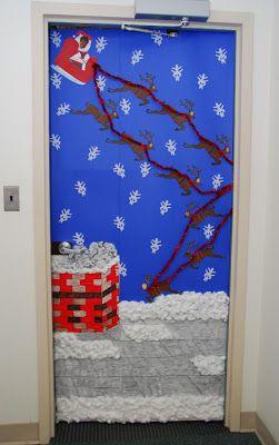 38 best xmas door images on Pinterest | Christmas deco ...