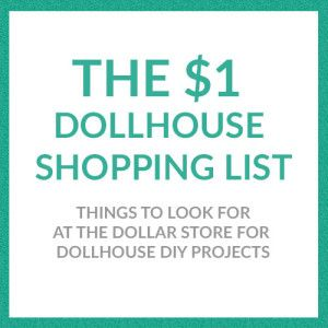 Youu0027ll Be Amazed At What Dollhouse Supplies You Can Find For Making Your  Own DIY Dollhouse Furniture And Accessories At The Dollar Store!