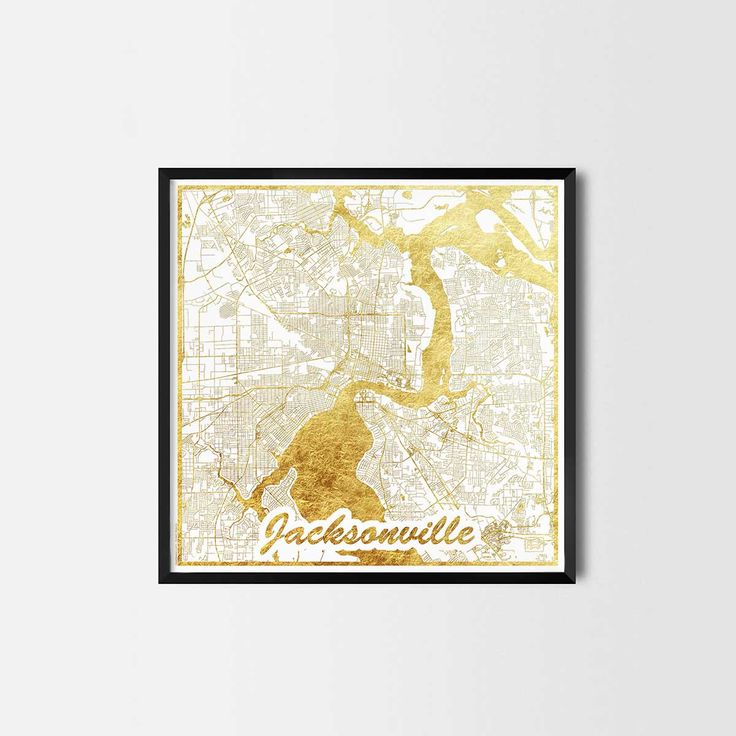 Jacksonville map posters are high quality map art prints of a great city. Perfect for the house and office or as a gift for a friend.