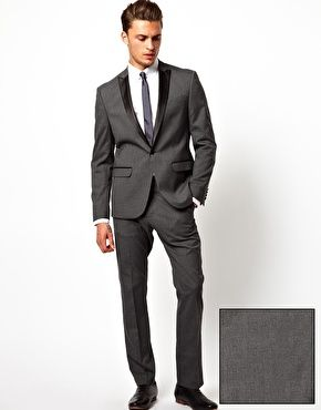 ASOS+Slim+Fit+Tuxedo+in+Charcoal their tuxedos cost just about the same as renting. Slim fit styles too