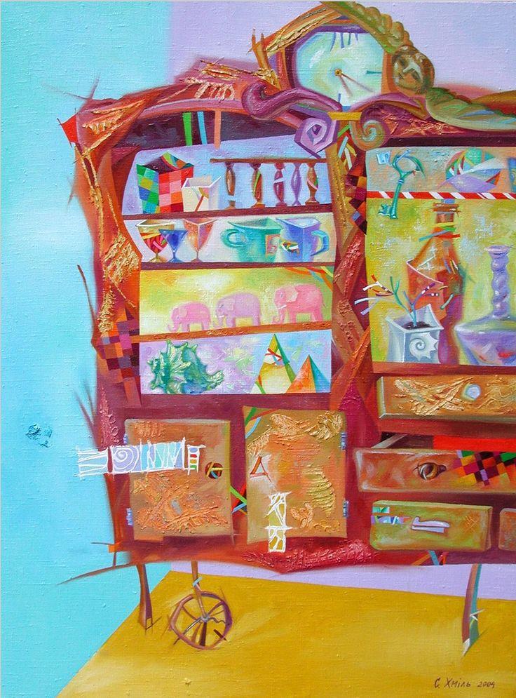 Хміль С. «Креденс». 2004. Полотно, олія. 60х80.