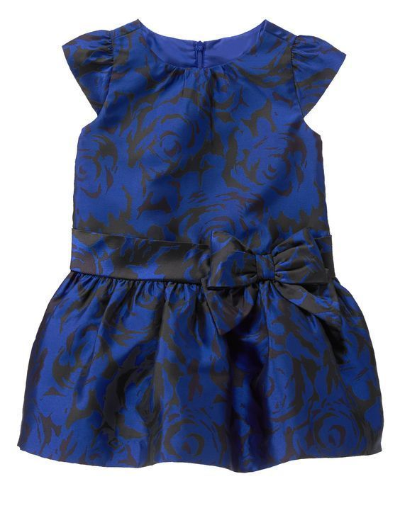 078c27228 Details about Gymboree Girls Best In Blue Royal Floral Jacquard Bow ...