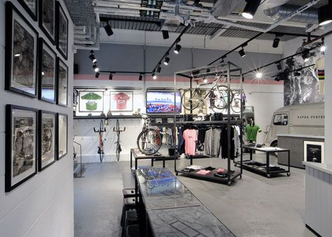 Great use of framed cycling shirts & photography: Rapha Cycle Club by Brinkworth
