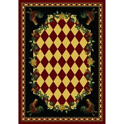 We offer this red high country rooster rustic rug and other rustic cabin rugs and country rugs.