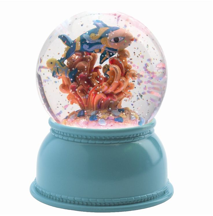 Djeco lampe – snekugle med lys – Fisk - Tinga Tango #djeco#legetøj#børneværelse#fisk#snekugle