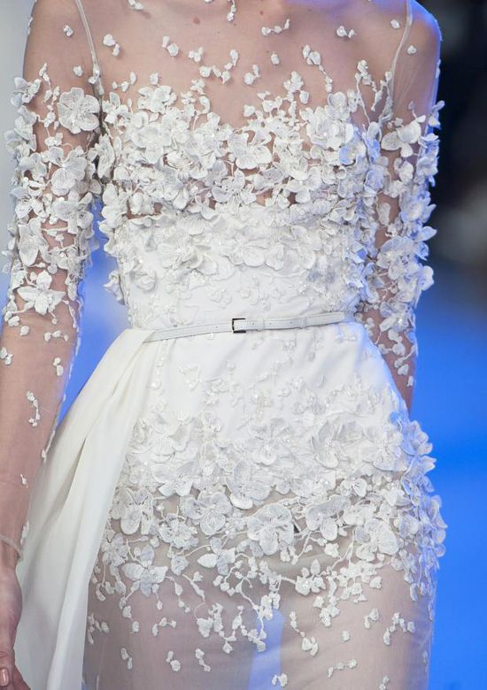 If I ever had to go to the Grammys, this would be it. Elie Saab Spring Summer 2014 #hc #fashion #details
