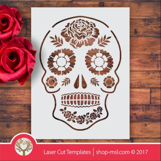 Product Sugar skull laser stencil cut template. shop online for vector patterns, free designs every day. Sugar skull laser stencil @ shop-msl.com