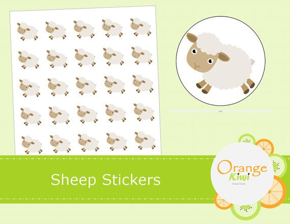Sheep Stickers  Sheep Planner Stickers  Sheep by OrangeKiwiDesign