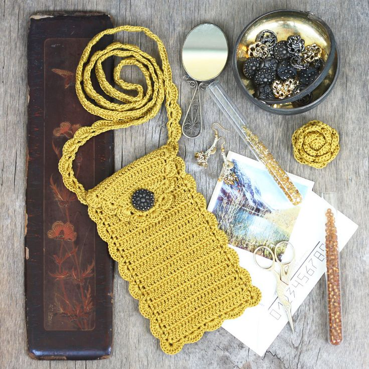 Mustard phone case Cell phone purse wristlet Honey gold accessory Fall Autumn Harvest Boho - pinned by pin4etsy.com