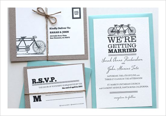 #free printables, #bike invitation, #tandem #bicycle, $0, free wedding stationery, free labels