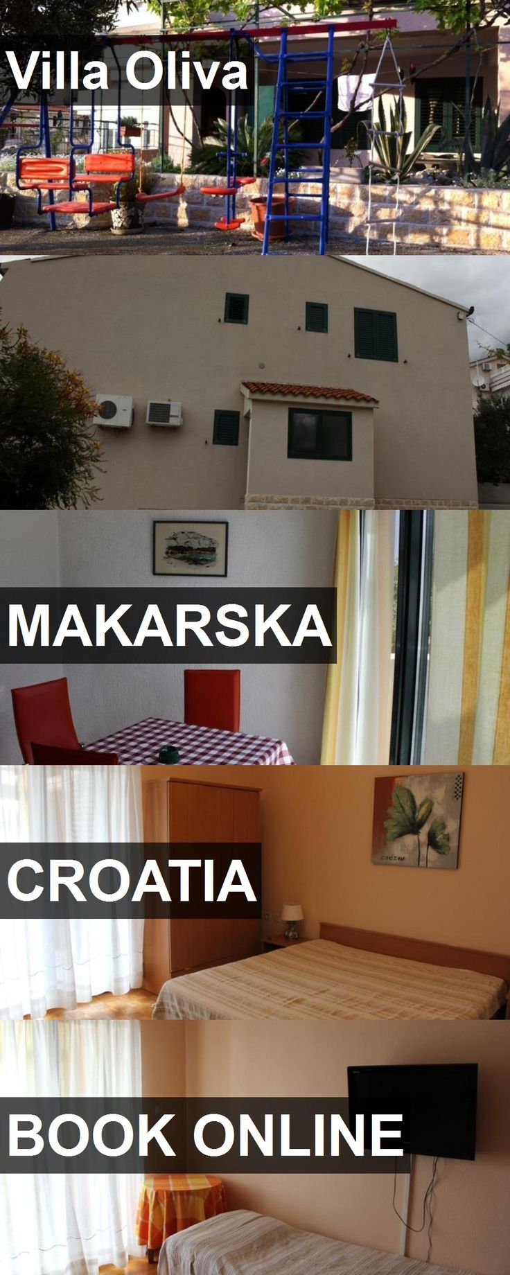 Hotel Villa Oliva in Makarska, Croatia. For more information, photos, reviews and best prices please follow the link. #Croatia #Makarska #travel #vacation #hotel