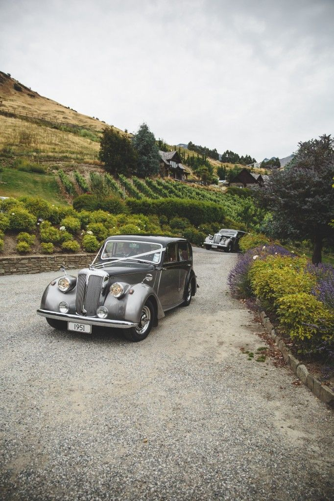 Vintage wedding car Daimler Consort in Queenstown, New Zealand