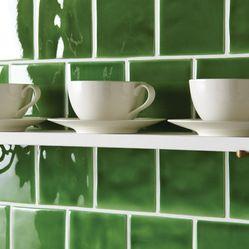 groene tegels | and my cup of tea? | verkrijgbaar bij mozaiek utecht
