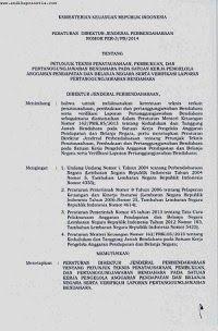 Pembukuan dan Verifikasi LPJ Bendahara dengan PER-3-PB-2014