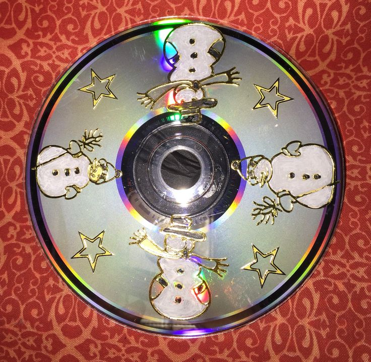 Met een oude CD gemaakt