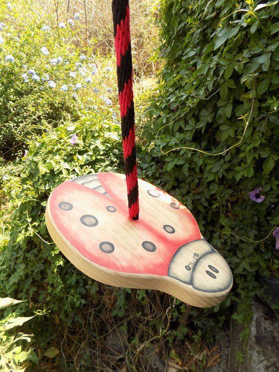 Disc Swing Heirloom Tree Swing Wiwiurka Wooden Swing Garden Swing Made To Order Wooden Swings Tree Swing Indoor Swing