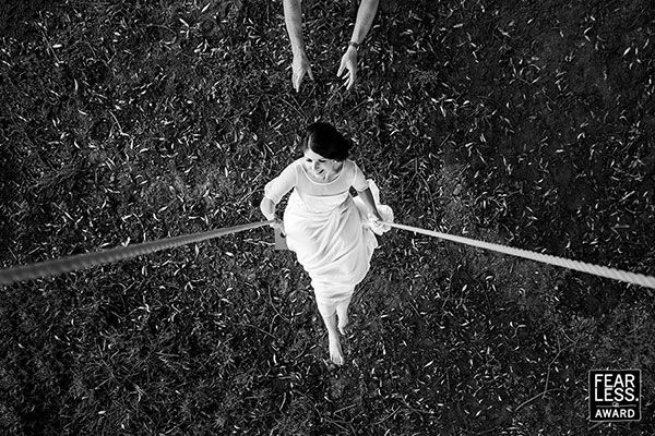Explore new angles for interesting compositions - 35 Best Wedding Photos From Fearless Photographers