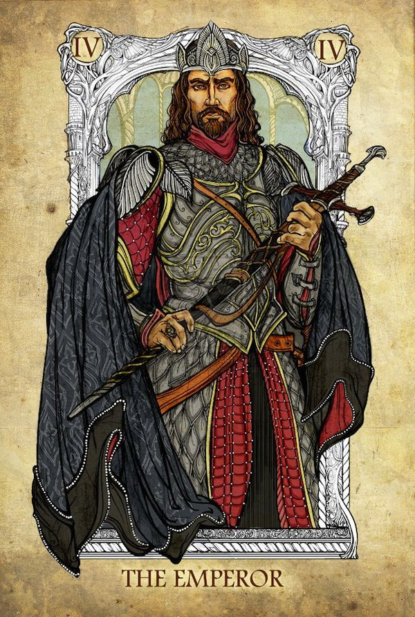 Lord of the Rings tarot cards, Aragorn, the emperor