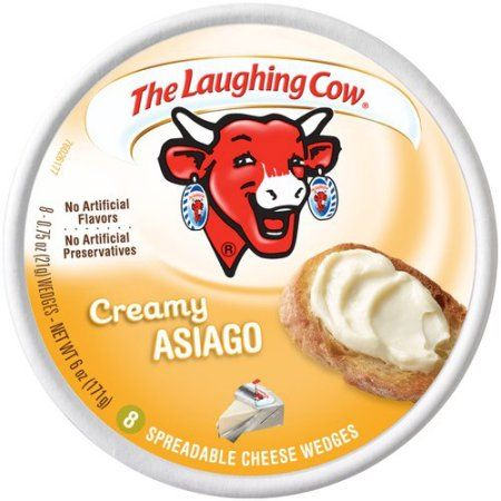 The Laughing Cow® Creamy Asiago Spreadable Cheese 8-0.75 oz. Wedges