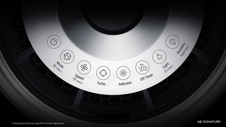 LG SIGNATURE's air purifier is equipped with features such as watering system, smart indicator and filter system to provide clean air for you and your family.