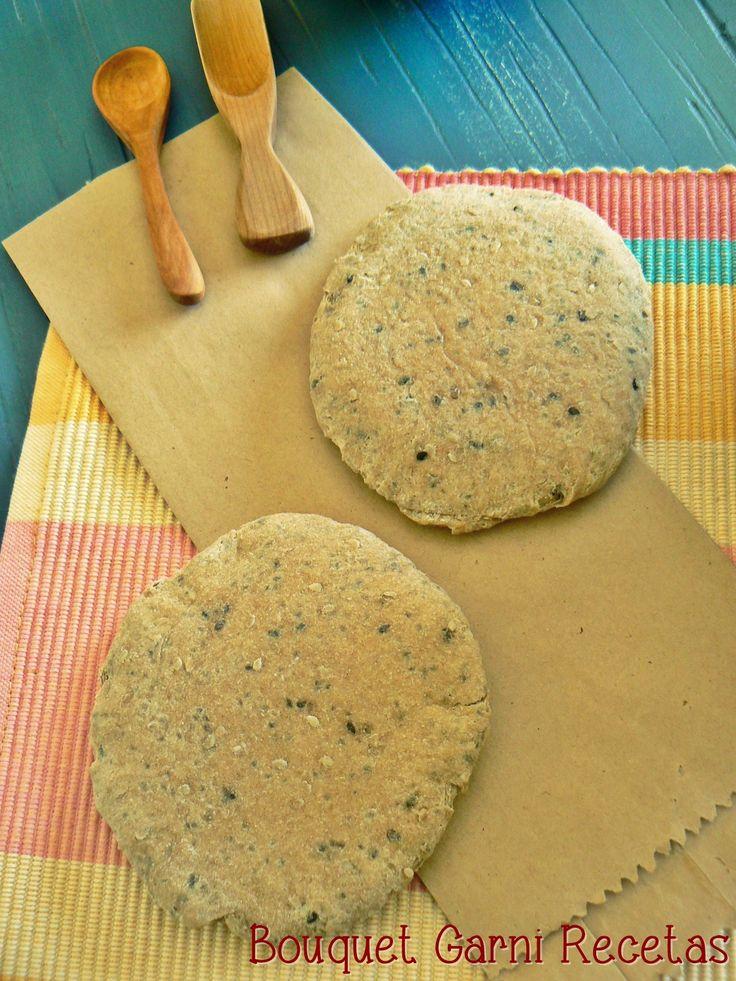 Bouquet Garni Recetas: Pan árabe integral con semillas