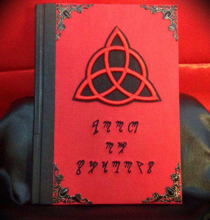 "Libro delle Ombre ""Red Theban Triquetra"" di LittleSorcerer su Etsy"