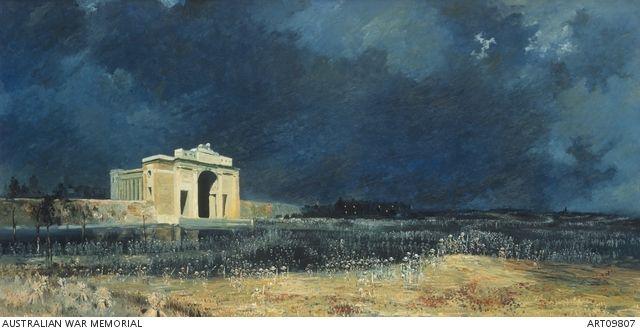 Menin Gate at midnight painting