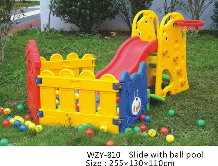 Kids Home And Garden Plastic Swing And Slide Set - Buy Plastic ...
