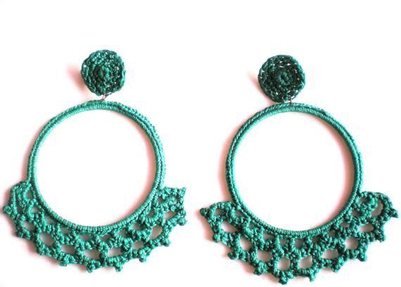 Pendientes, Colección Flamenca Chic., Complementos, Pendientes, Crochet, Accesorios, Fechas señaladas, Cumpleaños, Fechas señaladas, Día de ...
