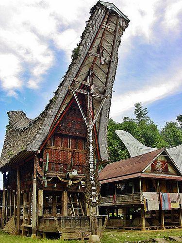 Sulawesi Ceremonial House Indonesia