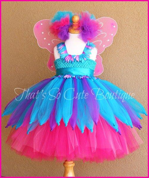 Abby Cadabby Tutu Dress, Abby Cadabby Costume, Pink and Blue fairy costume
