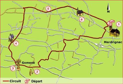 Detail de la randonnée Merdrignac, Le train de la balade - Merdrignac-Gomené, en PEDESTRE sur Bretagne Randonnée , Balades et randonnées , à pieds , en vélo , en VTT , à cheval, en kayak en Bretagne