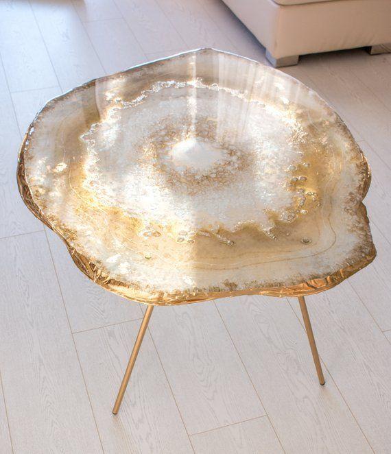 Original Resin Geode Table Etsy Geode Decor Resin Furniture Resin Table