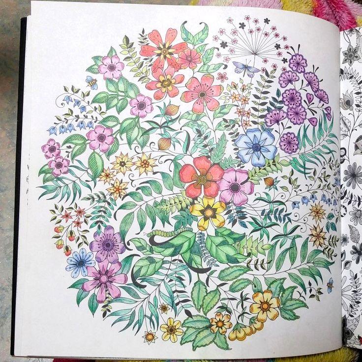 Secret Garden By Johanna Basford Colored Kelli