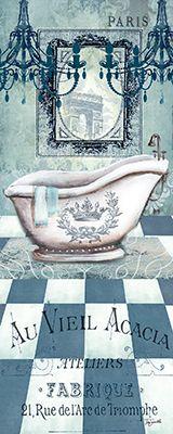 RB6209TS French Turquoise Bath Panel I 8x20