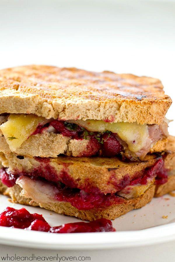Leftover turkey cranberry mozzarella panini recipe for Leftover shredded turkey sandwiches