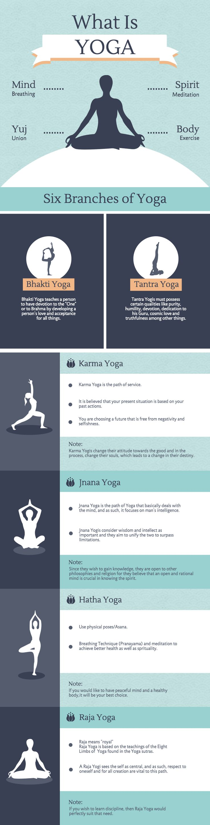 Learn about the 6 different branches of Yoga in this infographic template. This template is suitable for breaking down key information into a digestible visual format, and is highly suitable for health-related topics.